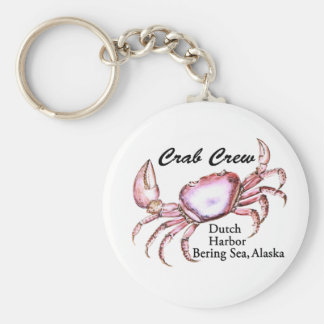 Bering Sea Alaska Crab Fishing Basic Round Button Key Ring