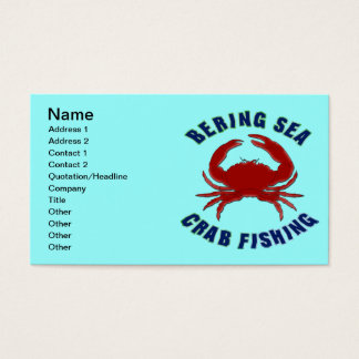 Bering Sea Crab Fishing Business Card