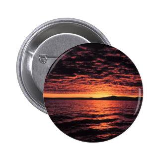 Bering Sea Sunset 6 Cm Round Badge