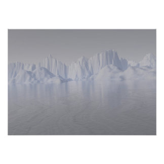 bering strait: the ice barrier print