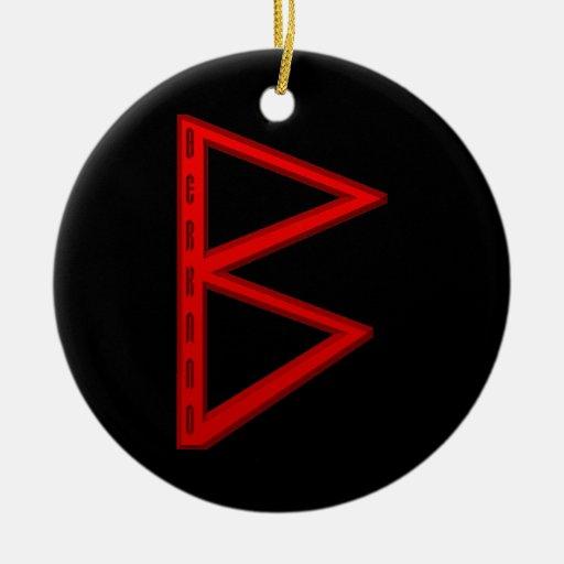 Berkano Rune red Christmas Ornament