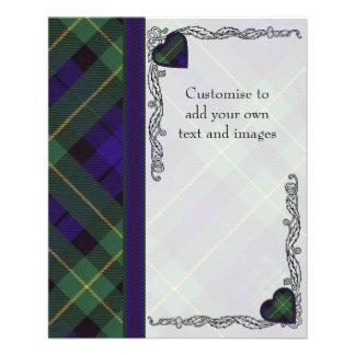 Berkeley clan Plaid Scottish kilt tartan 11.5 Cm X 14 Cm Flyer