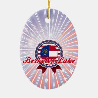 Berkeley Lake, GA Ceramic Oval Decoration
