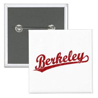 Berkeley script logo in red 15 cm square badge