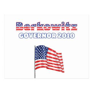 Berkowitz Patriotic American Flag 2010 Elections Postcard