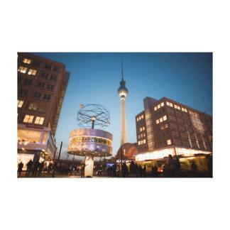 berlin alexanderplatz stretched canvas print