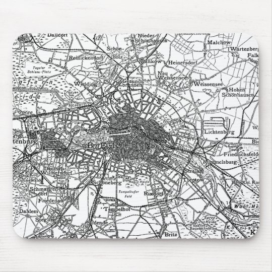 Berlin and Surrounding Areas Map(1911) Mouse Mat