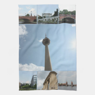 Berlin Architecture Photo Collage Tea Towel