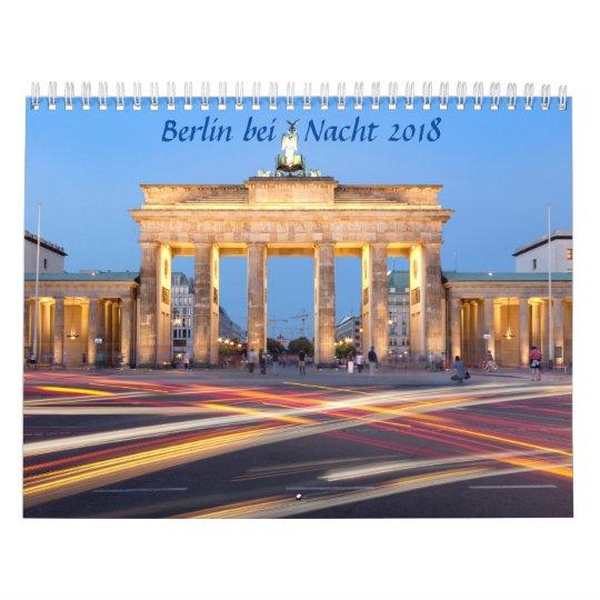Berlin at night photo wall calendar