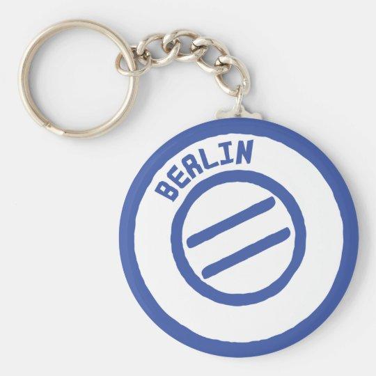 Berlin Basic Round Button Key Ring