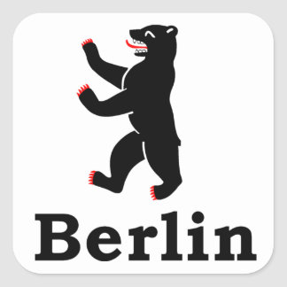 Berlin Bear Square Sticker