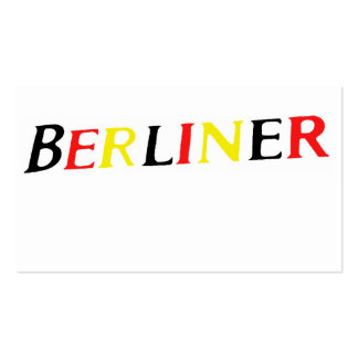 Berlin,Berliner, Germany in Colours of Flag Pack Of Standard Business Cards