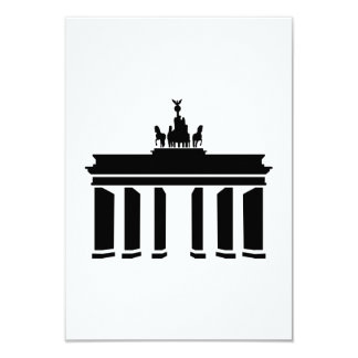 Berlin Brandenburg gate 9 Cm X 13 Cm Invitation Card