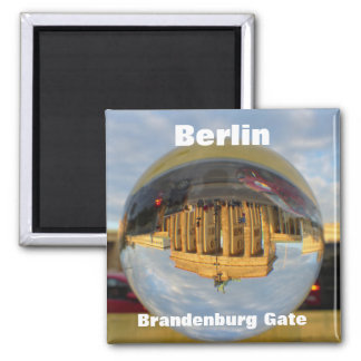 Berlin, Brandenburg Gate Square Magnet