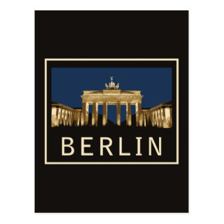 Berlin Brandenburg Gate Postcard