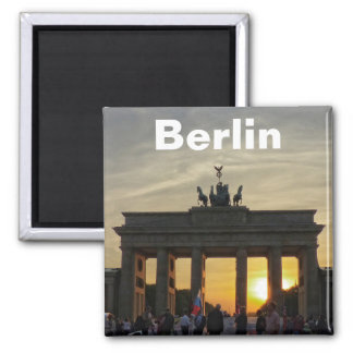 BERLIN Brandenburg Gate Square Magnet