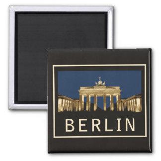 Berlin Brandenburg Gate Square Magnet