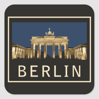Berlin Brandenburg Gate Square Sticker