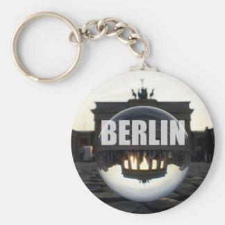 BERLIN Brandenburg Gate sunset Basic Round Button Key Ring