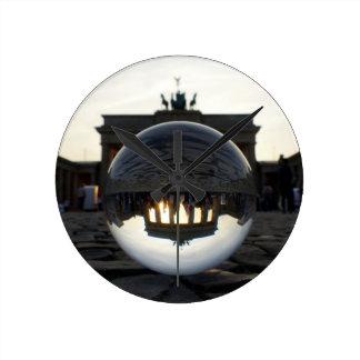 BERLIN Brandenburg Gate sunset Round Wall Clocks