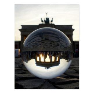 BERLIN Brandenburg Gate sunset Postcard