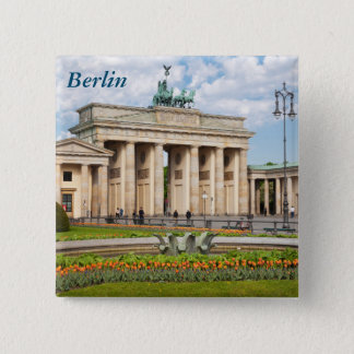 Berlin Brandenburger Tor 15 Cm Square Badge