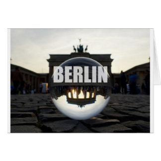 BERLIN Brandenburger Tor, Brandenburg Gate sunset Greeting Card
