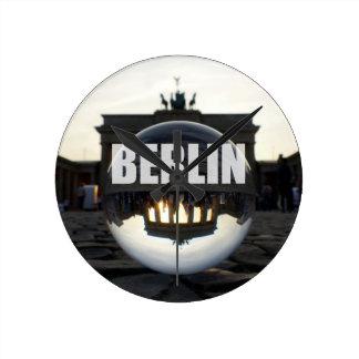 BERLIN Brandenburger Tor, Brandenburg Gate sunset Round Clock
