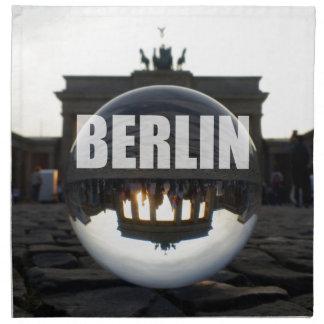 BERLIN Brandenburger Tor, Brandenburg Gate sunset Napkin