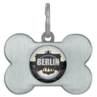 BERLIN Brandenburger Tor, Brandenburg Gate sunset Pet Name Tags
