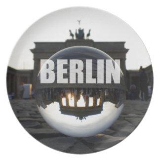 BERLIN Brandenburger Tor, Brandenburg Gate sunset Plate
