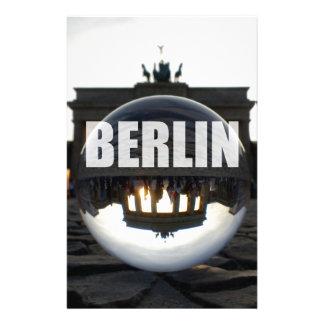 BERLIN Brandenburger Tor, Brandenburg Gate sunset Personalized Stationery