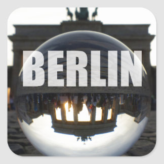 BERLIN Brandenburger Tor, Brandenburg Gate sunset Square Sticker
