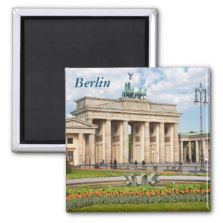 Berlin Brandenburger Tor Square Magnet