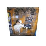 Berlin camera Graffiti Street art, real world art Gallery Wrap Canvas