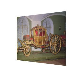 Berlin carriage of Empress Catherine II Canvas Print