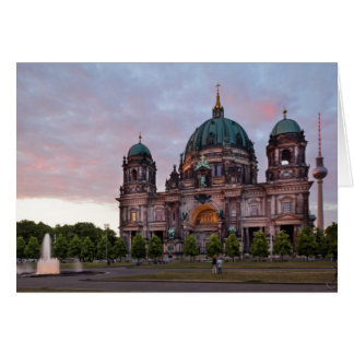 Berlin Cathedral with Television Tower and Lustgar Card