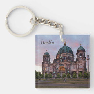 Berlin Cathedral with Television Tower and Lustgar Single-Sided Square Acrylic Key Ring