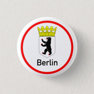 Berlin city arms 3 cm round badge