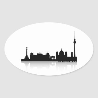 Berlin Cityscape_2 Oval Sticker