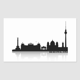 Berlin Cityscape_2 Rectangular Sticker