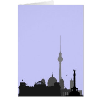 Berlin Cityscape Card