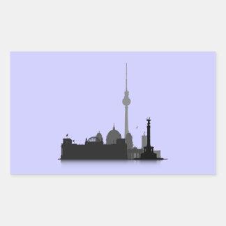 Berlin Cityscape Rectangular Sticker