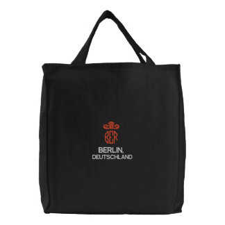 BERLIN, DEUTSCHLAND BLACK TOTE EMBROIDERED TOTE BAGS