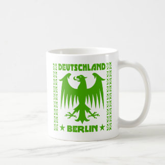 Berlin Deutschland German Eagle [Green] Classic White Coffee Mug