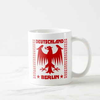 Berlin Deutschland German Eagle [Red] Classic White Coffee Mug