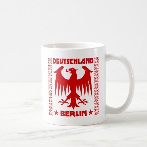Berlin Deutschland German Eagle [Red] Coffee Mugs