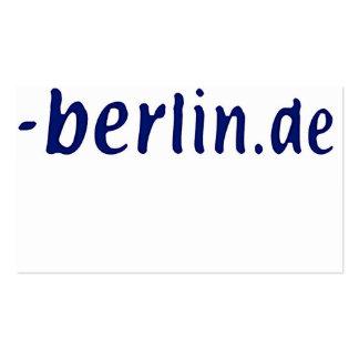 Berlin Domain - berlin.de Pack Of Standard Business Cards