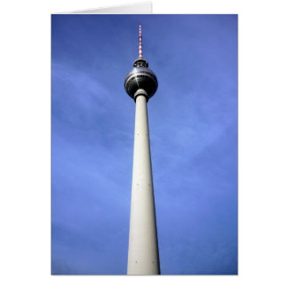 berlin east fernsehturm greeting card