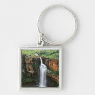 Berlin Falls, Mpumalanga, South Africa Silver-Colored Square Key Ring
